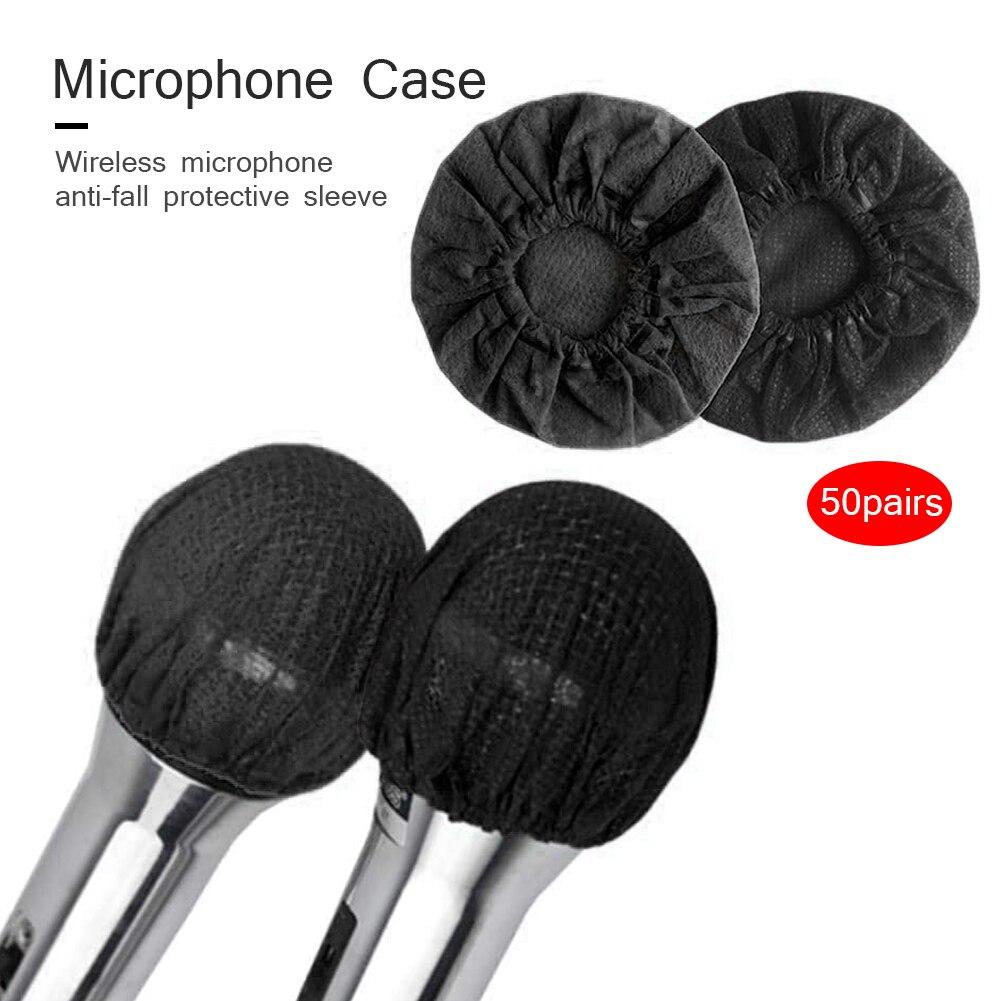 50 пар одноразовых чехлов для микрофона универсальные нетканые защитные чехлы для микрофона лобовое стекло колпачок колодки для KTV караоке