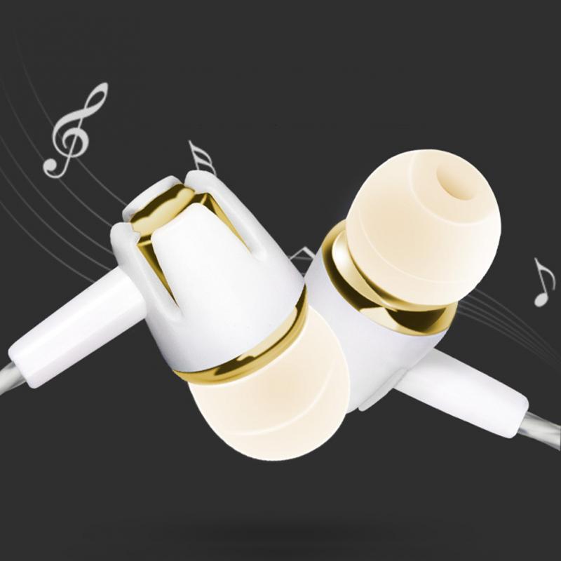 Auriculares intrauditivos estéreo de silicona, auriculares a prueba de sudor de tipo recto de 3,5mm, auriculares con control por cable para música