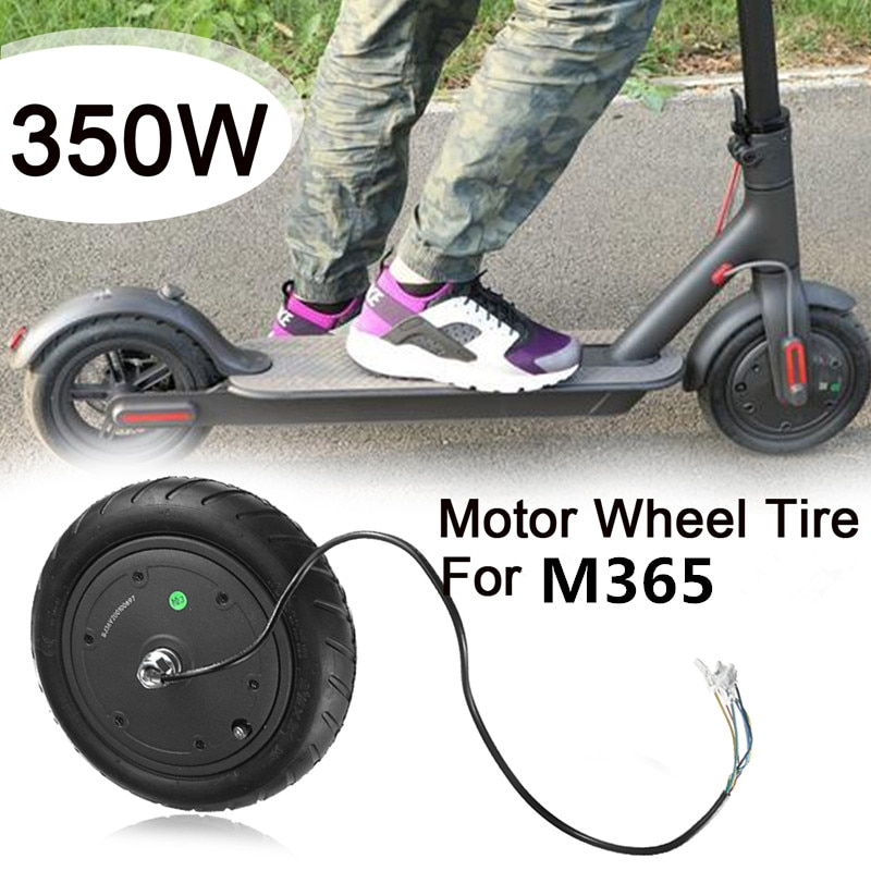 For M365 Electric Scooter Repair Replacement Black 350W Motor Wheel Tire Tyre Scooter Parts