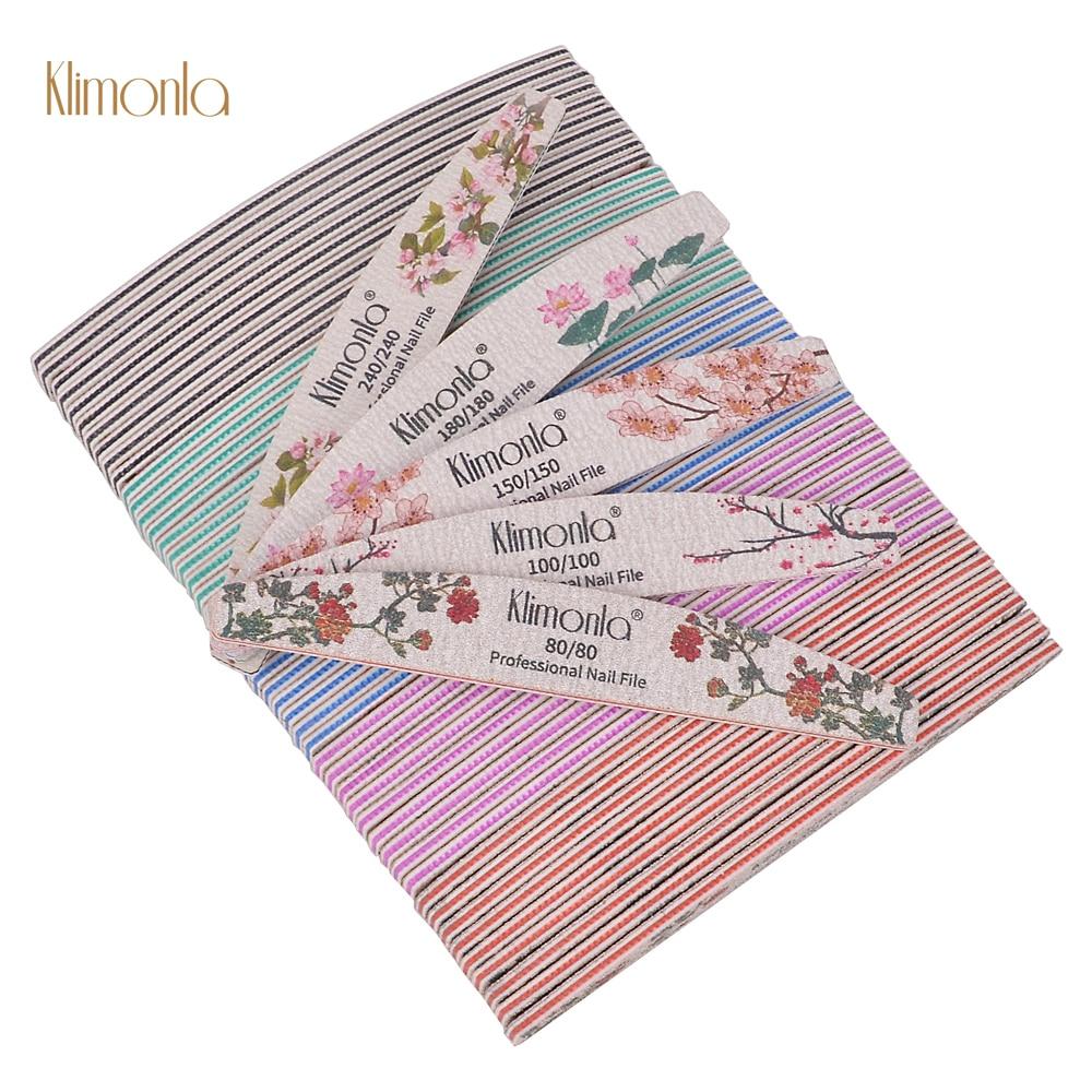25 pcs colorido barco em forma de arquivo de unhas flor impresso prego buffer polimento
