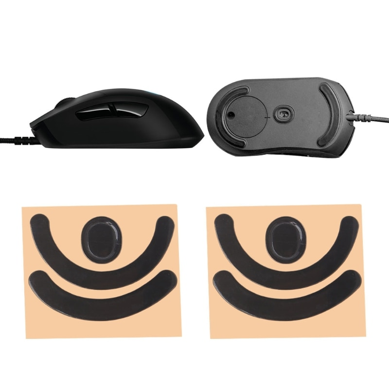 2 conjuntos de 0.6mm preto bonito mouse pé adesivos para logitech g403 jogos laser jogos mouse pés ratos patins