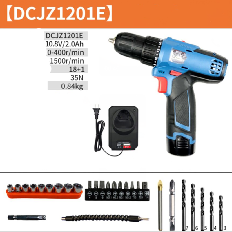 12V Lithium electric hand drill household plug-in type Electric screw driver drilling machine Hole Punching tool enlarge