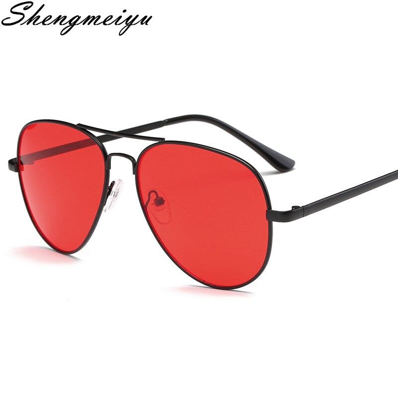 Солнцезащитные очки авиаторы унисекс, винтажные классические брендовые дизайнерские солнечные очки с защитой UV400, чёрные, красные