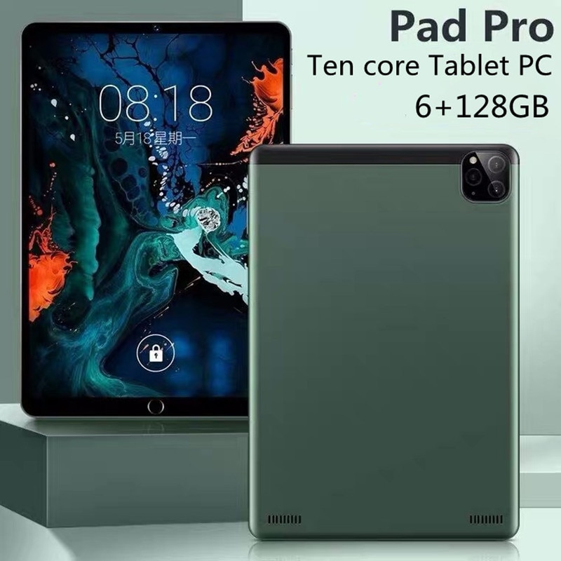Brand New Pad Pro 10.1 Inch Tablet 1920x1200 4G Network 6GB RAM 128GB ROM tablet android online clas
