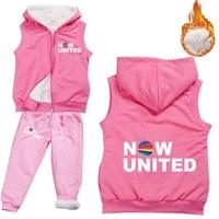 now united better album clothes set kids hooded vest coat pants 2pcs suit girls boys casual sportsuits children tracksuits