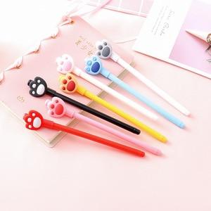 24 pcs Korea creative cute cat claw gel pen cartoon student writing tool black 0.5mm pens for school estojos escolar