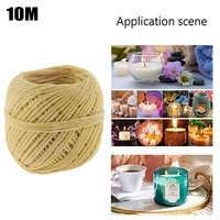 1 roll beeswax wicks 100 organic hemps wicks 33 ft well coated natural beeswax for candle making lighting diy ignition ropes
