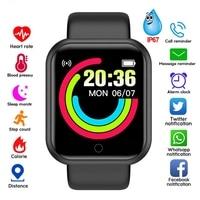 Умные часы Y68 для мужчин, электронные часы, монитор фитнес-активности, подарок для Huawei SB001