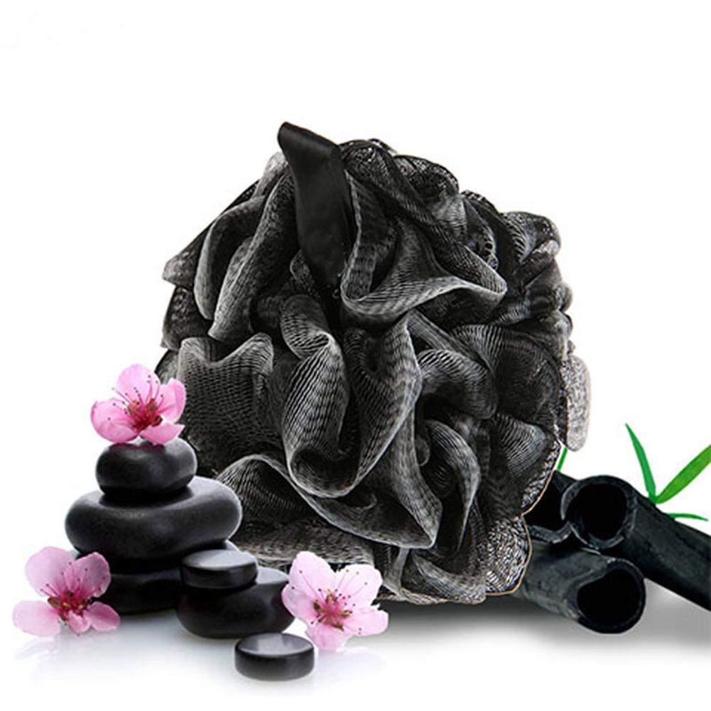Toalla de limpieza de carbón de bambú suave caliente BOLA DE BAÑO removedor de suciedad