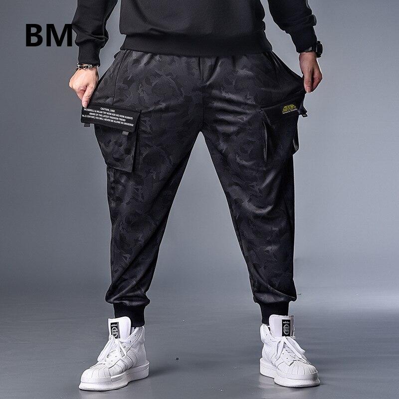 Grande taille 7XL hommes automne hiver Camouflage décontracté survêtement Camouflage sport Baggy sarouel pantalons pantalons ceinturés pantalons de survêtement