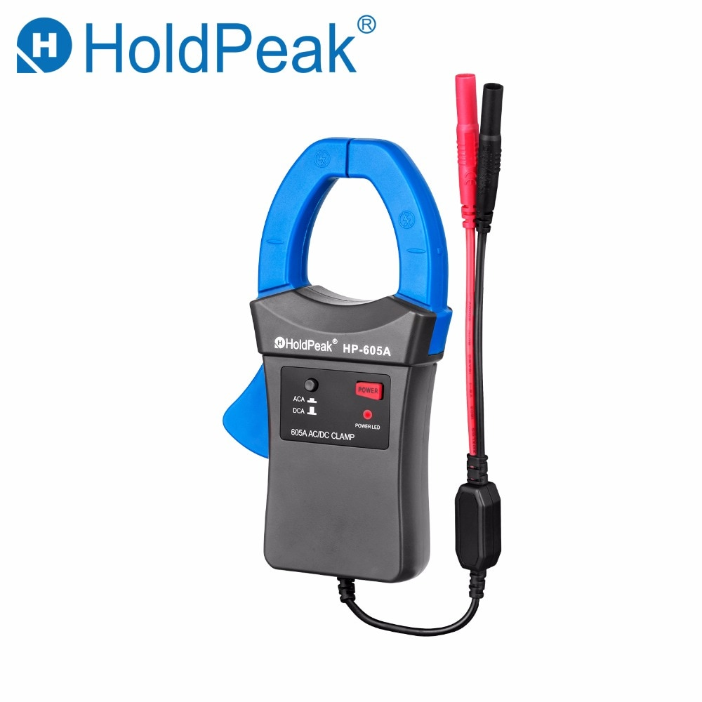 Adaptador de abrazadera Holdpeak HP-605A 600A corriente alterna/continua LED 45mm mordaza calibre HoldPeak multímetro Digital para HP-890N