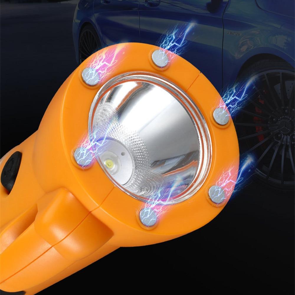 Luces de martillo para ventana rota, linterna magnética potente de emergencia para exterior, camping, para cinturón de seguridad de coche, fuente de luz COB