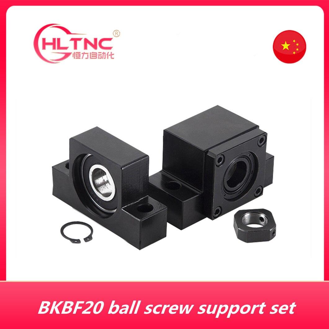 الكرة اللولبية دعم BK20 BF20 لمطابقة المسمار 25 مللي متر SFU2505 SFU2510 SFE2525 ballscrew نهاية دعم BK20 /BF20 BKBF20 1 مجموعة
