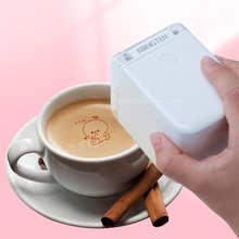 Coffee Edible Ink Printer Portable Inkjet Printer Handheld Edible Food Printer in Bread Cake Coffee Mold Latte Baking Mold