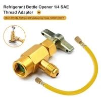 refrigerant bottle opener thread adapter opener valve tool adapter refueling conditioning tool refrigerant measuring