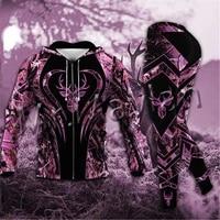 3d print animal hunting deer camo fashion men women tracksuit casual long pant hoodies zipper sweatshirts jackets s 37