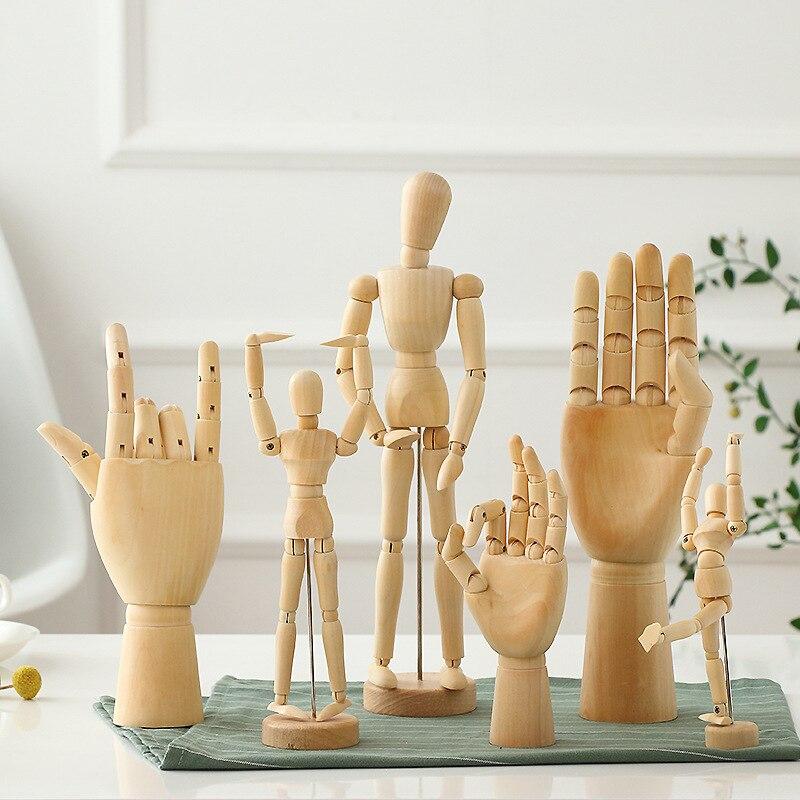 Изящные деревянные подвижные шарнирные деревянные украшения, ручная модель, ручная марионетка, деревянные шарниры для человека