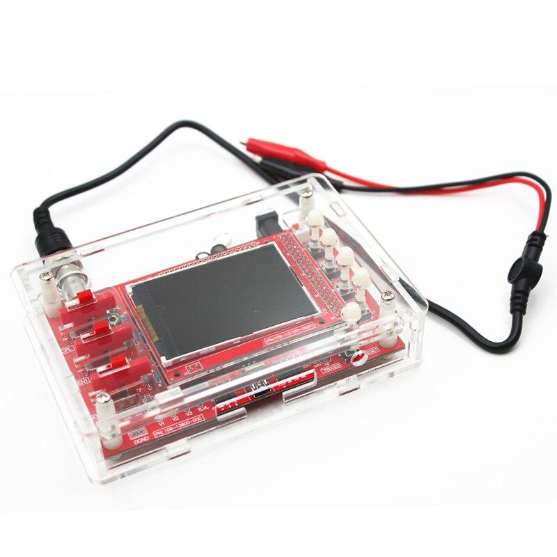 Ручной Карманный цифровой осциллограф DSO, TFT, 2,4 дюйма, SMD паянный + акриловый чехол для самостоятельной сборки