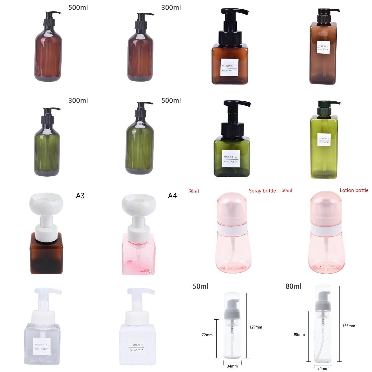 Spray Bottles Sub-bottling Plastic Multicolor Refillable Bottle Empty Container Flip-top Dispensing Makeup Tool 80/300/500/650ML недорого