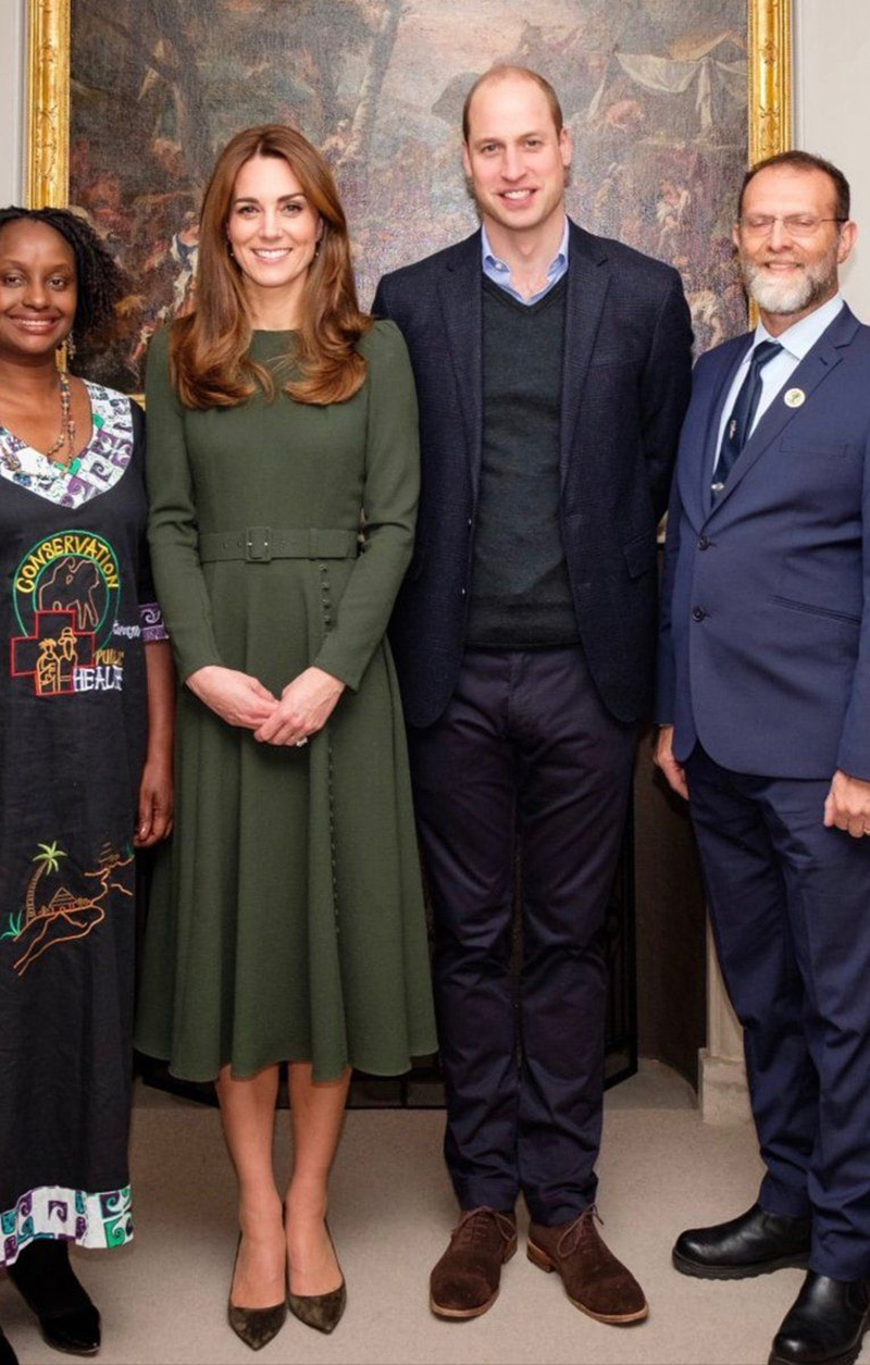 Kate Middleton princesa breve mujeres Midi vestido elegante vestidos de fiesta de manga larga