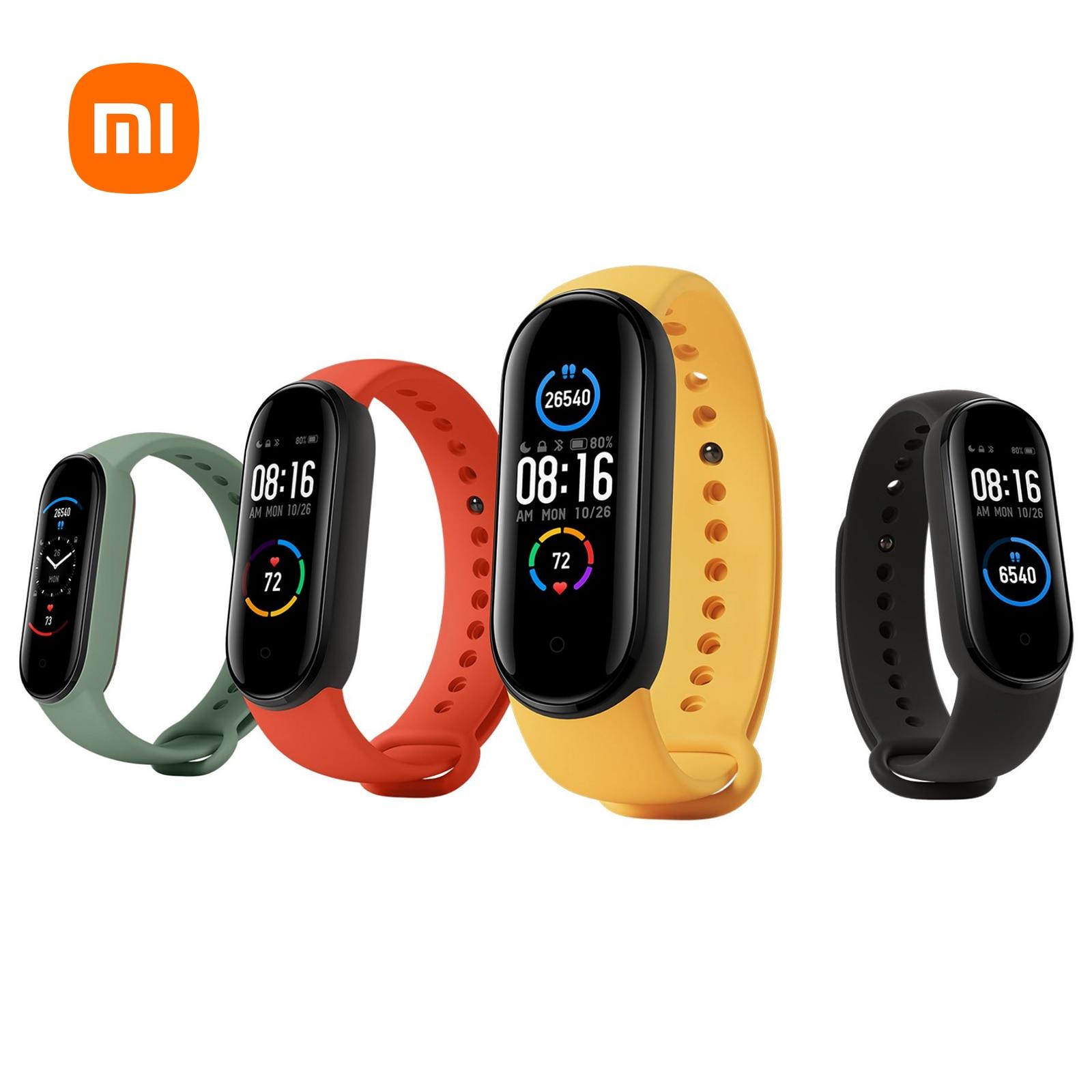 Xiaomi-سوار متصل Mi Band 5 ، ساعة ذكية ، إصدار عالمي ، أصلي