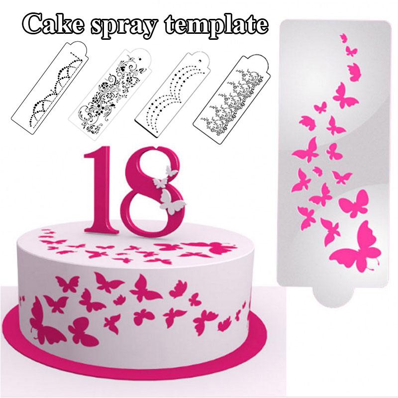 Кондитерские инструменты, трафареты для торта, форма для выпечки, шаблон, многоразовый трафарет для торта, мастики, торта, форма для торта, р...