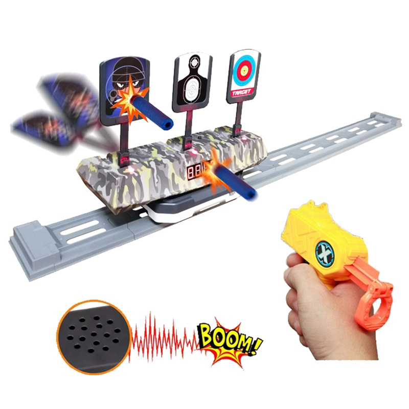 smart creator ar game gun toy fun sports airsoft air guns multiplayer interactive virtual reality shoot bluetooth control game Gun Air Shot Game Toy Shoot A Kid  For Child Kids Children Toys Darts Games Sports Auto Electric Scoring Mobile Running Targets