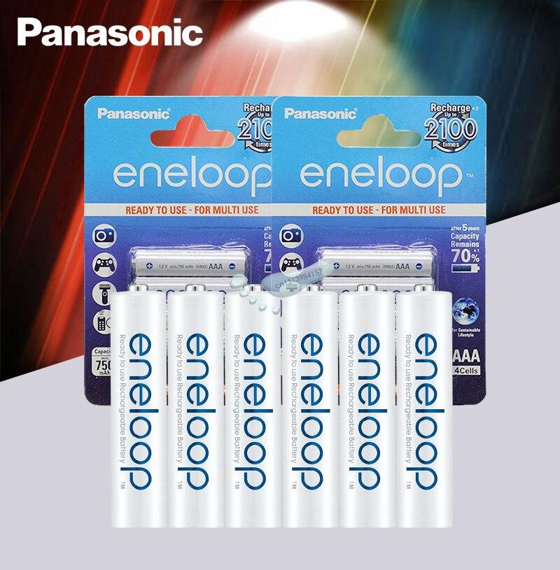 20pcs Panasonic Eneloop מקורי סוללה פרו 1.2V AaA 800mAh NI-MH מצלמה פנס צעצוע נטענת טעונה מראש סוללות