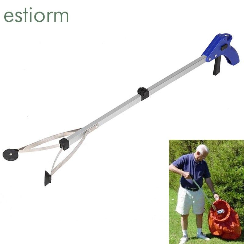 Ferramenta grabber para idosos, ferramenta dobrável para pegar lixo, selecionador de lixo para jardim