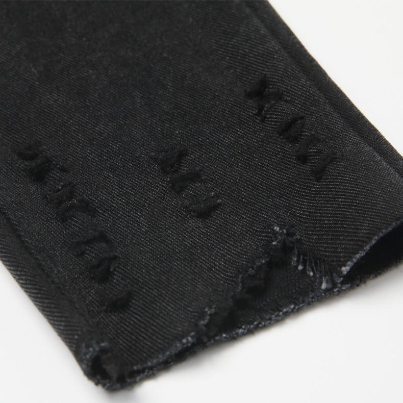 Womens Black Navy Blue Capri Pocket Leggings Women High Waist Ripped Leggins Plus Size Stretch Denim Pencil Pants Jegging Femme