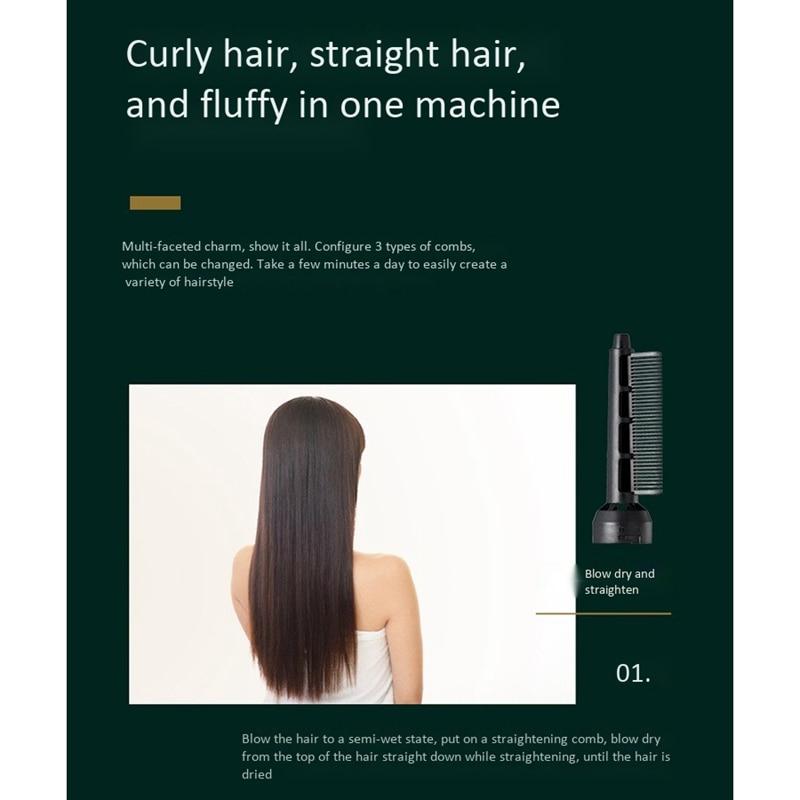 Föhn Machine 3 In 1 Multifunctionele Haar Styling Tools Haardroger Haar Krultang Stijltang Droger Kam Borstel Eu Plug enlarge