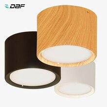 [Dbf] Wit/Zwart/Houten Opbouw Plafond Downlight 5W 12W Led Plafond Spot Light AC110/220V Voor Keuken Woonkamer Decor
