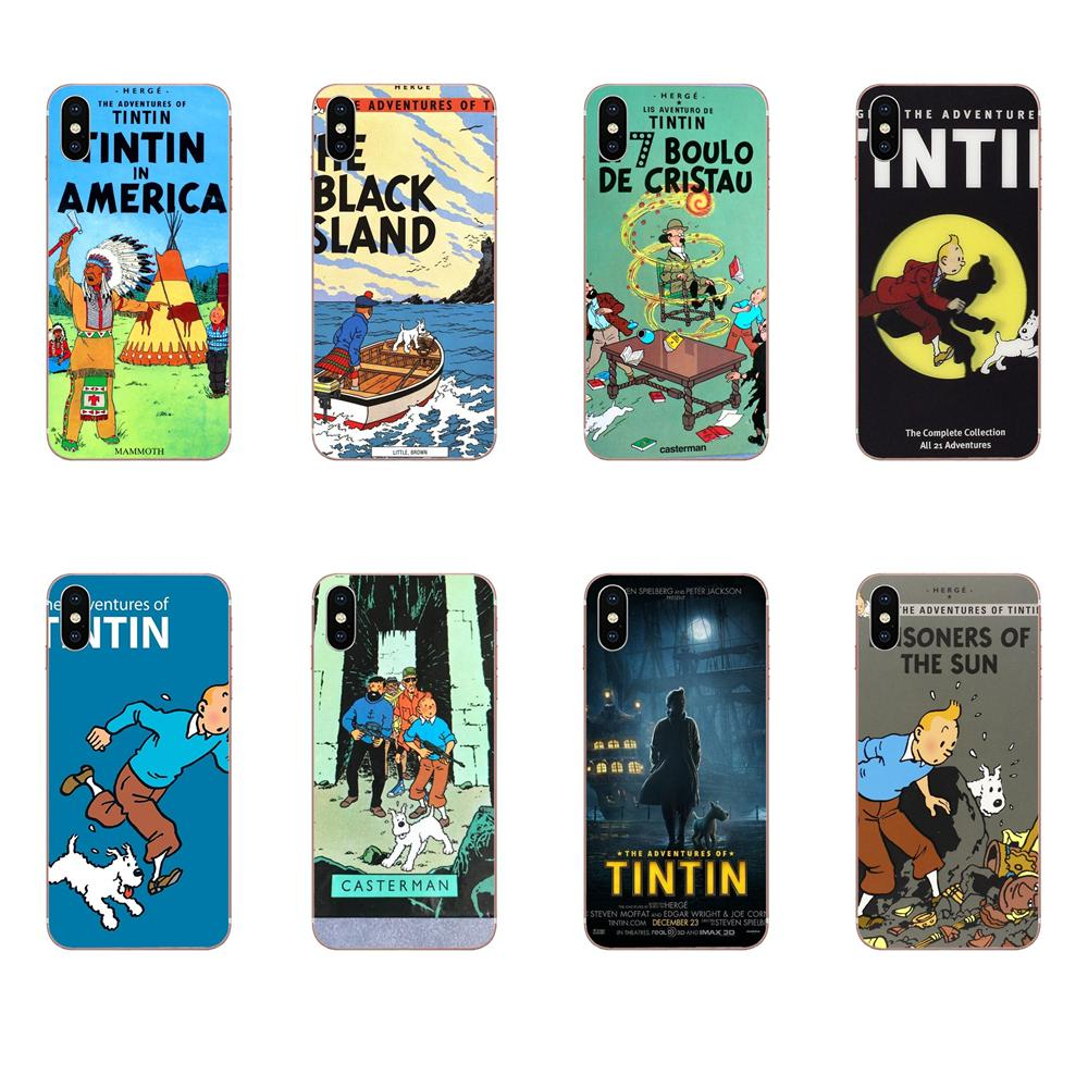 Móvil del TPU caso de las aventuras de Tintín mejor para Xiaomi mi 3 mi 4 mi 4C mi 4i mi 5 mi 5S 5X 6 6X 8 SE Pro Lite A1 Max mi x 2 Note 3 4