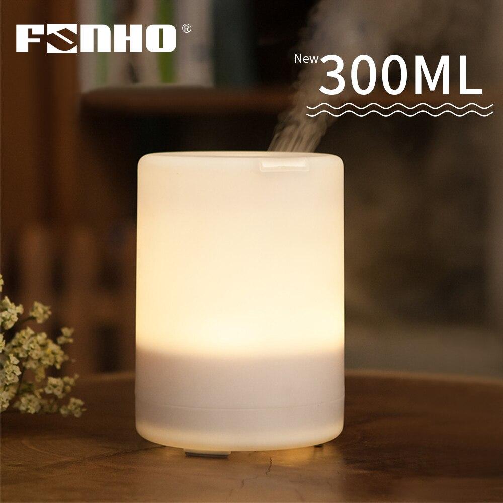 FUNHO-humidificador de aire, difusor de aceite esencial para aromaterapia, generador de niebla ultrasónica eléctrico, 7 luces LED de color para el hogar, 300ml