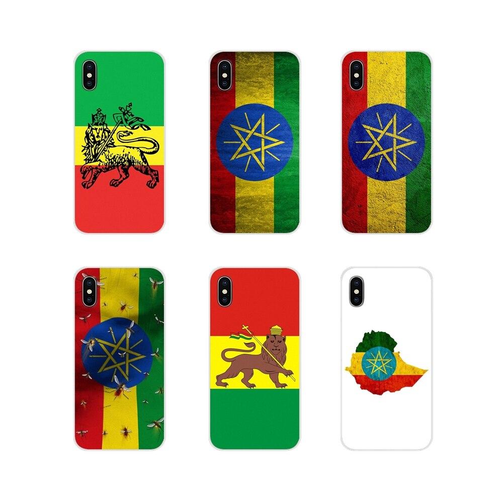 Para xiaomi mi4 mi5 mi5s mi6 mi a1 a2 a3 5x 6x 8 cc 9 t lite se pro acessórios capas de telefone retro etiópia bandeira