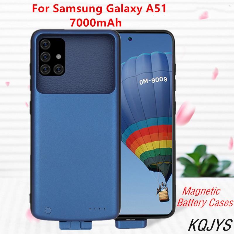 7000mah magnético caso carregador de bateria para samsung galaxy a51 externo backup bateria de carregamento capa para galaxy a51 bateria caso