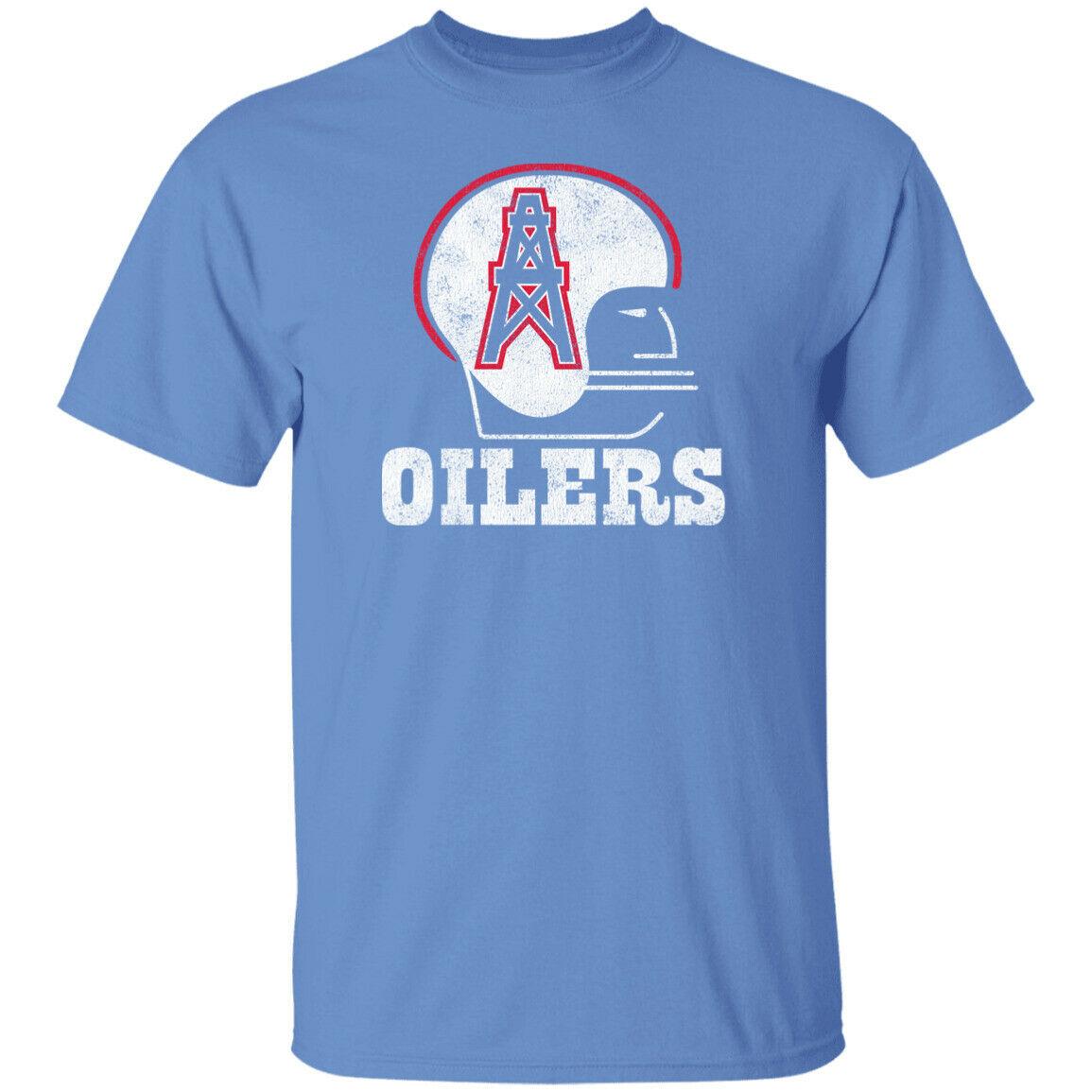 Camiseta divertida Retro con texto desgastado Oilers de Houston, Texas