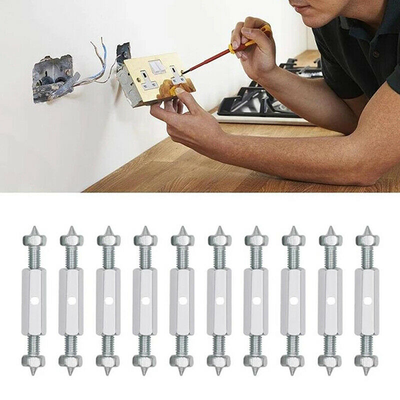 21Pcs/Set Switch Socket Cassette Screws Support Rod Wall Mount Switch Box Internal Repair Kit Electrical Accessories Tool