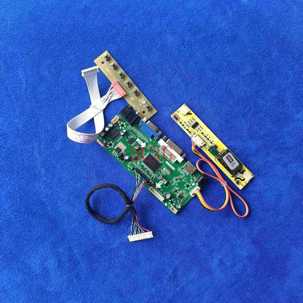 1024*768 2CCFL ل QD15XL11/QD15XL15/N150X7-L01 HDMI-متوافق DVI VGA LCD مصفوفة لتقوم بها بنفسك عدة M.NT68676 بطاقة وحدة التحكم 30 دبوس LVDS