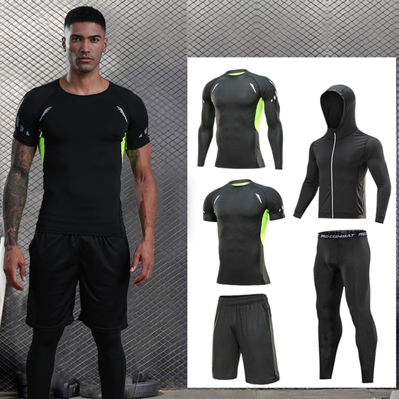 Men's sportswear compression sportswear quick-drying running suit clothes sports jogging training gy