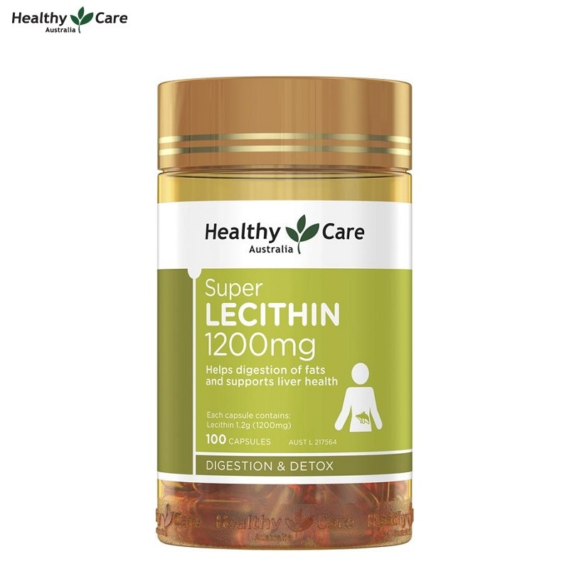 Healthy Care Soybeans Lecithin 1200mg 100capsules Fish Oil partner Digestive System Liver health Brain Function Fat metabolism