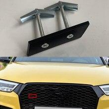 Support Logo de style de voiture pour Audi   S3 S4 S5 S6 S7 RS3 RS4 RS5 RS6 RS7 RS8 RSQ3 RSQ5 RSQ7 TTRS, emblème de calandre, support Logo pour Badge nid dabeille