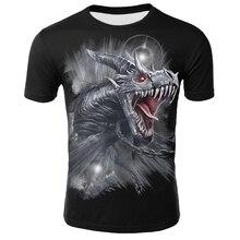 Vêtements pour hommes décontracté col rond à manches courtes été mythique Animal T-shirt Streetwear 3D Animal impression T-shirt Dragon hauts