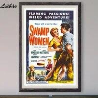 Aventure bizarre V174 1955  Affiche en soie personnalisee  Vintage  film classique  decoration murale  cadeau de noel