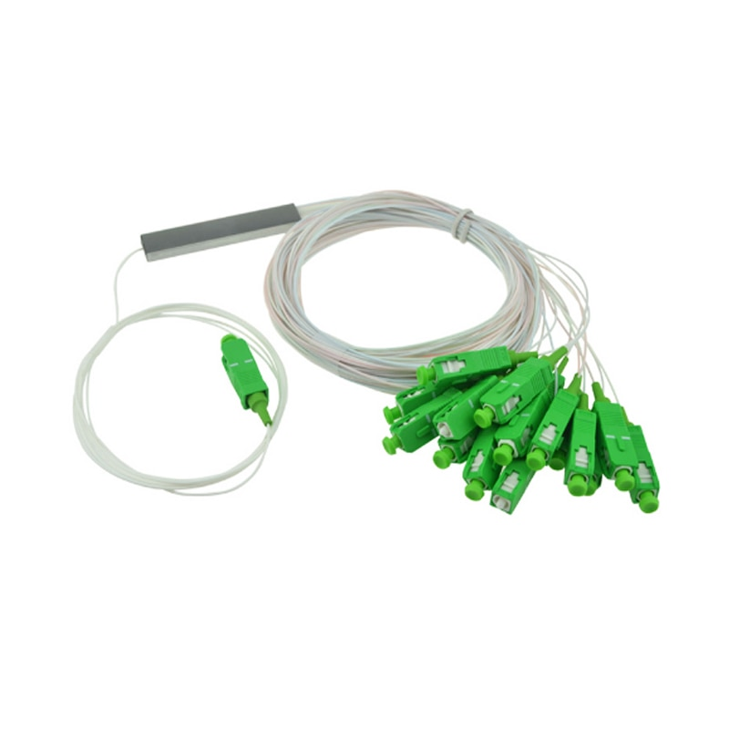 Free shipping  10 PCS/Lot 1X2 1X4 1X8 1X16 1X32 PLC SC/APC SM 0.9mm G657A1 PVC 1m FTTH Fiber Optic Splitter enlarge