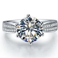 test positive 2ct 8mm d e moissanite diamond ring genuine s925 engagement jewelry for women wedding ring
