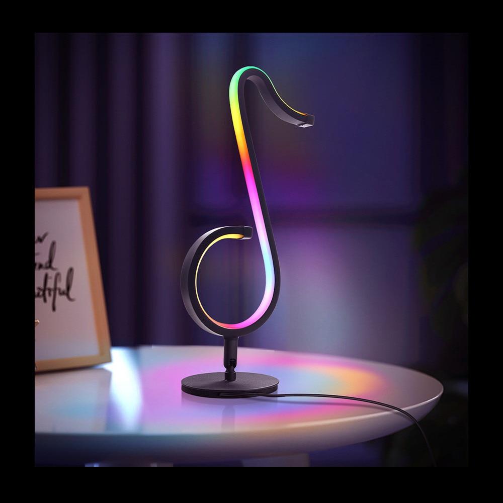 2021 الساخن Tiktok وسائل الإعلام تدفق الجدول مصباح RGB الجدار الذكية LED لمبة مكتب بلوتوث App عكس الضوء ليلة ضوء هدية الكريسماس