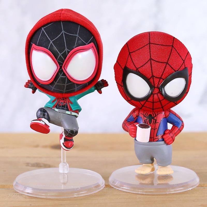 Anime Bobble Head Spider Man In De Spider-Vers Peter Pvc Collectie Speelgoed Voor Christmas Gift
