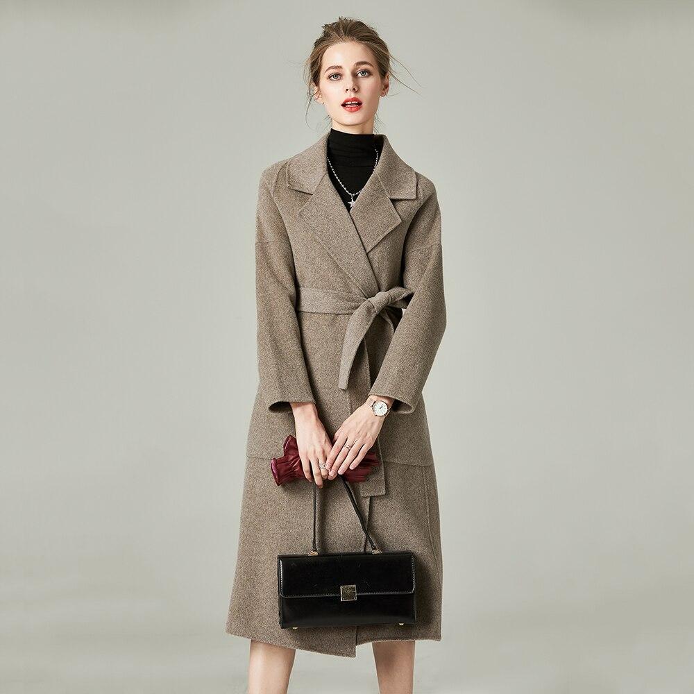 الوافدين الجدد معطف صوف المرأة سيدة الشتاء موضة الكشمير خندق الإناث الخريف معاطف طويلة S8723