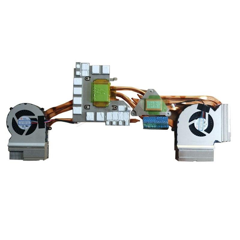 Ventilador do Refrigerador da Cpu do Portátil para Msi Dissipador de Calor do Radiador de Refrigeração Cpu Gpu N425 N426 & Ventilador Gp65 Ge65 Ddr9 Rtx2060 Ms-16u1